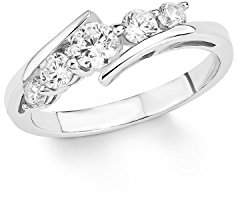 Amor Women 925 silver White Zirconium oxide FINERING