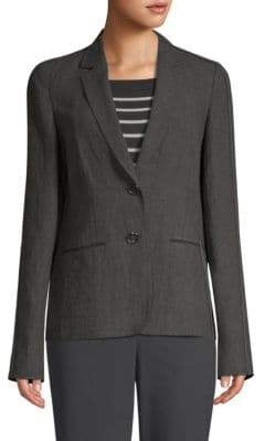 Lafayette 148 New York Women's Vangie Linen Blazer - Ash - Size 4