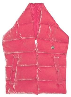 Moncler Velvet Padded Puffa Scarf - Womens - Pink
