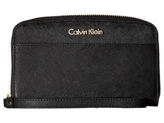 Calvin Klein Saffiano Wallet w/ Strap Wallet Handbags