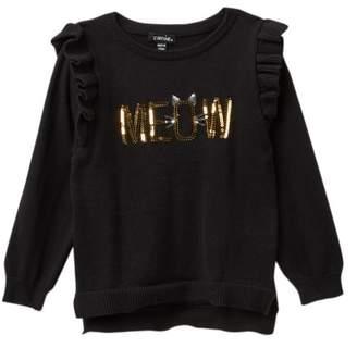 Zunie Long Sleeve Ruffle Top Sweater (Toddler Girls)