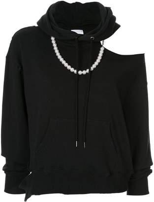 Puma Maison Yasuhiro distressed slouchy hoodie