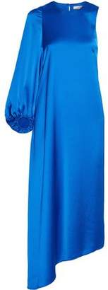 Tibi One-shoulder Asymmetric Satin-crepe Dress