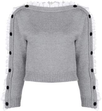 Philosophy di Lorenzo Serafini lace button detail sweater