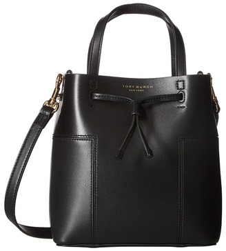 Tory Burch - Block-T Micro Drawstring Crossbody Cross Body Handbags $350 thestylecure.com
