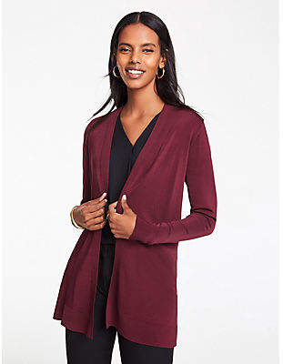 Ann Taylor Shimmer Open Cardigan