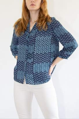 NYDJ Blue Waves Blouse
