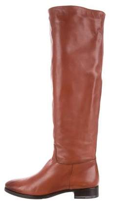 Santoni Leather Thigh-High Boots