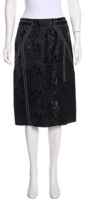 Wes Gordon Knee-Length Brocade Skirt w/ Tags