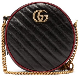 Gucci Gg Marmont Quilted Leather Cross Body Bag - Womens - Black Multi