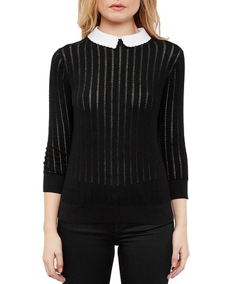 Ted Baker Scalloped-Collar Sweater $195 thestylecure.com