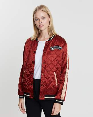 Maison Scotch Reversible Embroidered Bomber Jacket