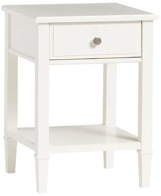 Pottery Barn Teen Fairfax Bedside Table, Water-Based Water-Based Simply White