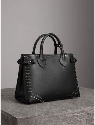 Burberry The Medium Banner in Riveted Border Leather