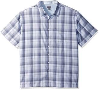 Van Heusen Men's Textured Cotton Rayon Short Sleeve Shirt