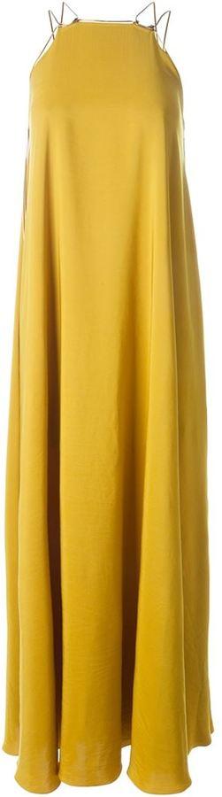 Lanvin chain strap evening gown