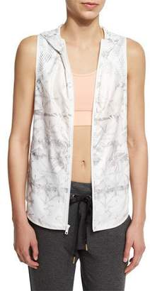 Alala Printed Hooded Vest W/Mesh Panels $145 thestylecure.com