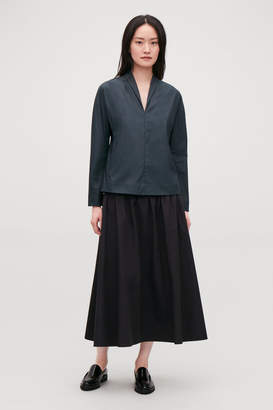 Cos BATWING-SLEEVED V-NECK TOP