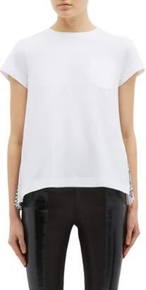 Sacai Pleated bandana back T-shirt