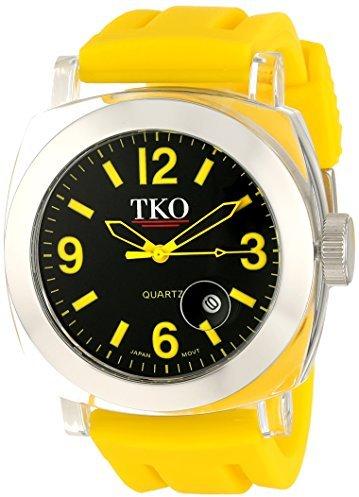 "TKO ORLOGI Unisex TK548-YY ""Milano"" Watch with Yellow Rubber Band"