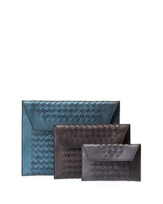 Bottega Veneta Three-In-One Nesting Woven Leather Pouch Bags