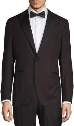 Isaia Wool Tuxedo Jacket