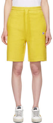 Alexander Wang Yellow Heavy Terry Basketball Shorts