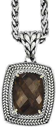 Couture FINE JEWELRY Shey Smoky Quartz Two-Tone Antiqued Pendant Necklace