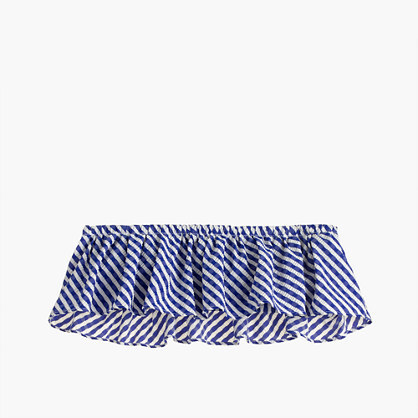 J.CrewRuffle bandeau bikini top in Italian seersucker