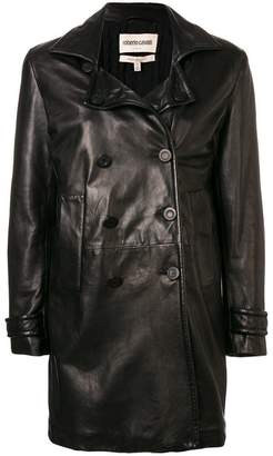 Roberto Cavalli double breasted leather jacket