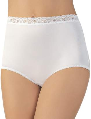 Vanity Fair Women's Perfectly Yours Nylon With Lace Brief Panty 13060 - Rose Beige