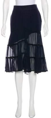 CNC Costume National Ruffled Silk Skirt w/ Tags