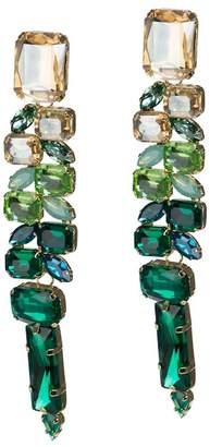 Jardin Ombre Multi-Cut Glass Stone Statement Earrings