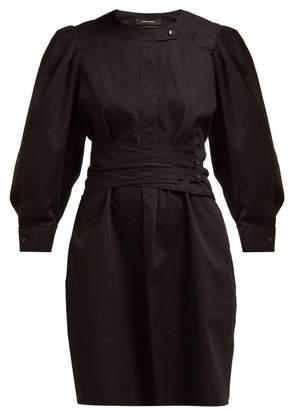 Isabel Marant Galaxy Belted Cotton Shirt Dress - Womens - Black