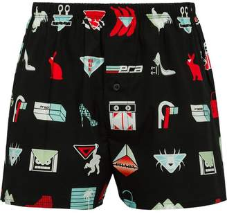 Prada logo print boxer shorts