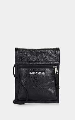 Balenciaga Men's Arena Leather Explorer Pouch - Black