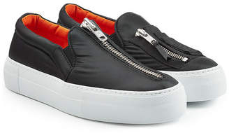 Joshua Sanders Fabric Slip On Sneakers with Zippers