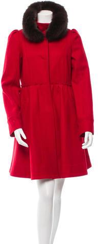 Alice + OliviaAlice + Olivia Fox-Trimmed Wool Coat