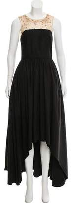 Marchesa Embellished High-Low Gown