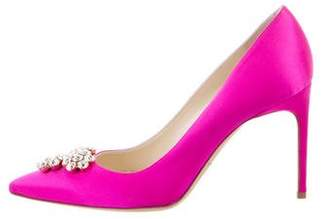 Brian Atwood Embellished Pointed-Toe Pumps