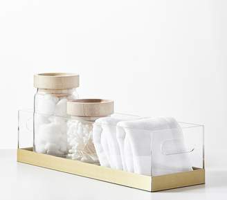 Pottery Barn Kids Acrylic and Metallic Diaper Caddy