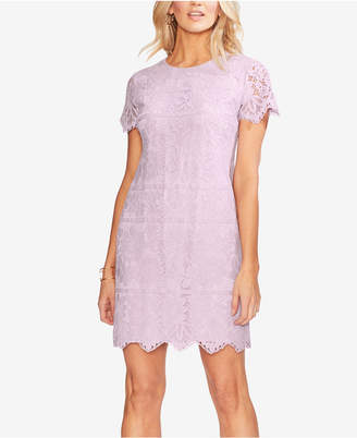 Vince Camuto Scallop-Trim Lace Shift Dress