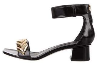 Louis Vuitton Leather Embellished Sandals