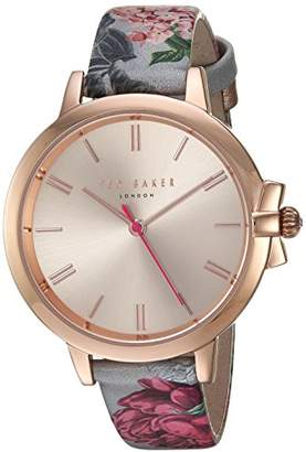 Ted Baker Women's 'Ruth' Quartz Stainless Steel and Leather Casual Watch