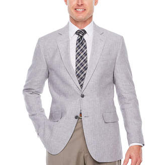 STAFFORD Stafford Linen Cotton Classic Fit Sport Coat