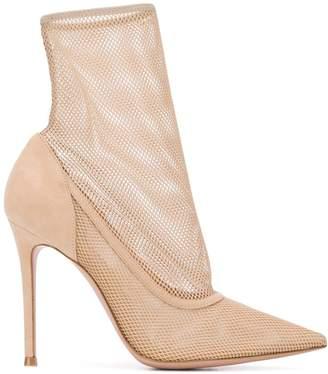 Gianvito Rossi fishnet sock boots