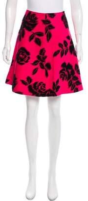 Trina Turk Floral Pattern Knee-Length Skirt