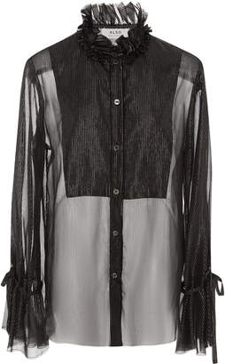 ALSO gwenyth sheer metallic blouse