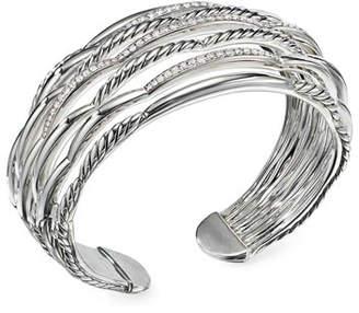 David Yurman Tides Large 7-Row Diamond & Cable Cuff