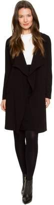 Le Château Women's Crêpe Belted Wrap Coat,L